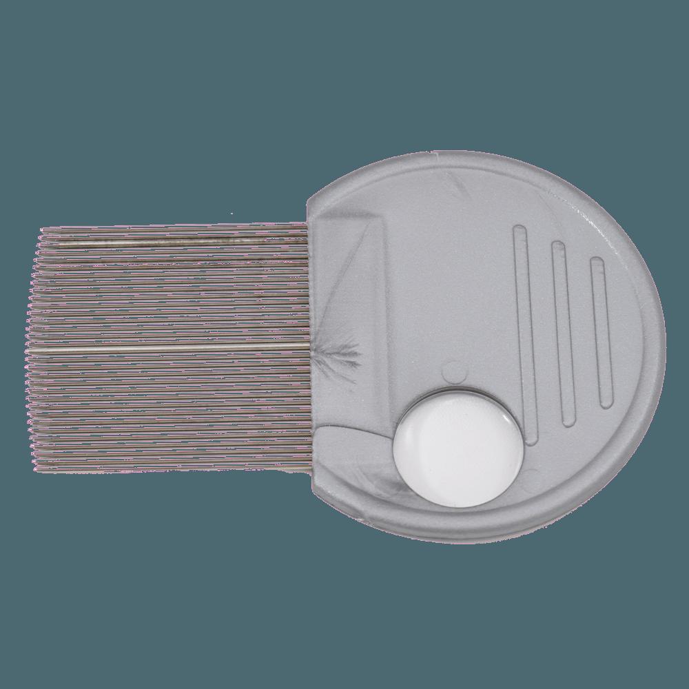 Peine pediculosis metal c/lupa